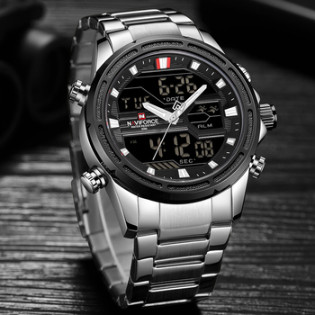 חדש NAVIFORCE Mens אנלוגי שעון יוקרה אופנה ספורט עמיד למים קוורץ שעוני יד כל-פלדת זכר שעונים שעון Relogio Masculino