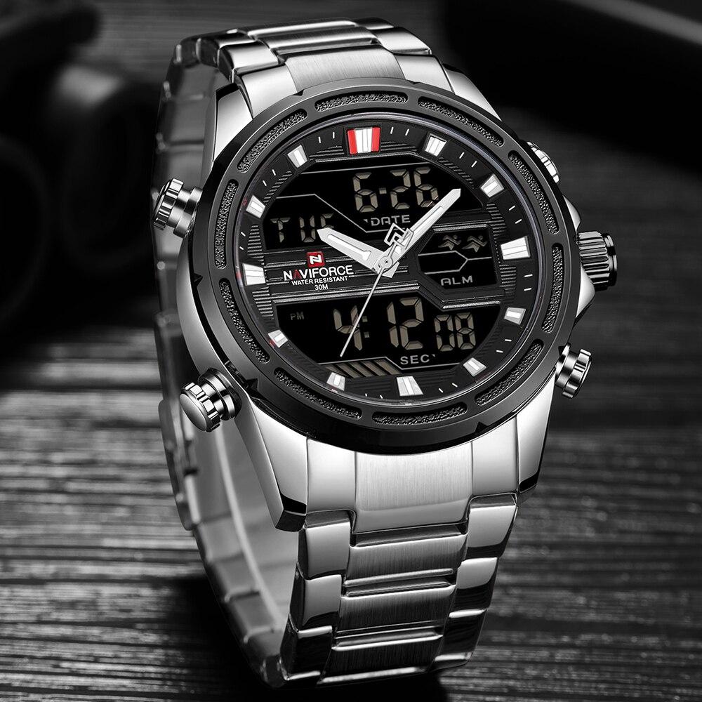 Nouveau NAVIFORCE Hommes Analogique Montre De Luxe De Mode Sport Étanche Montre À Quartz Tout Acier Mâle Montres Horloge Relogio Masculino