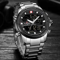 Nowy NAVIFORCE męski zegarek analogowy luksusowa moda Sport wodoodporny zegarek kwarcowy wszystkie stalowe męskie zegarki zegar Relogio Masculino