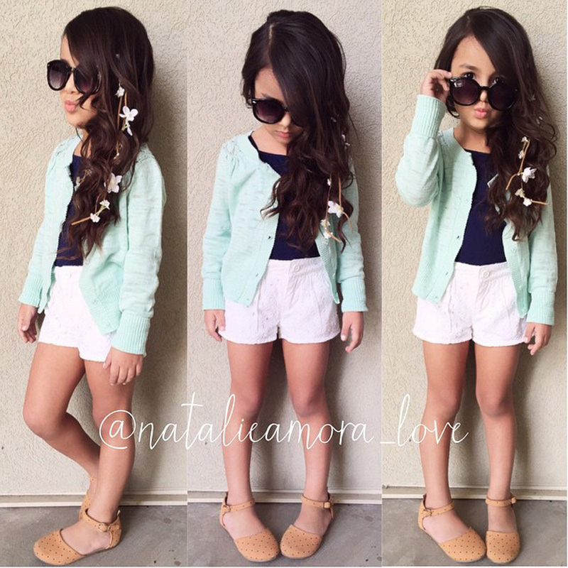 Girls clothing sets long sleeved jacket t shirt white for Cool t shirts for 12 year olds