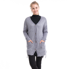 2019 New Woman Sweater fashion Cashmere Knitted Shawl Women Poncho Zipper Coat Pocket Capes