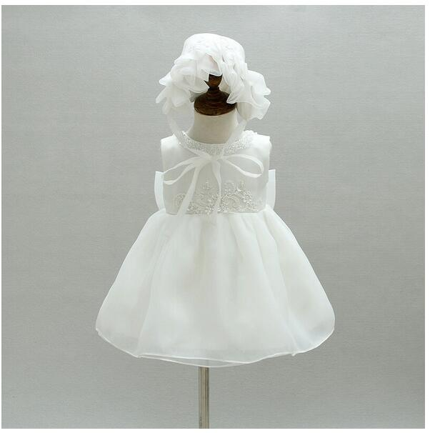 Baby Girls Pageant Formal Dresses 2017 Baptism Big Bow Vest Infant Girls Princess Tutu Dress Gauze Kids Birthday Wedding Dresses baby girls pageant formal dresses 2017 flowers vest satin infant girls princess tutu dress gauze kids birthday wedding dresses