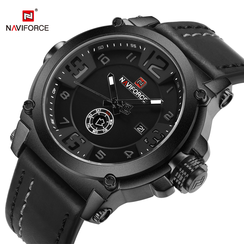 NAVIFORCE Fashion Casual Mens Quartz Watch Date Week Display Sport Men Wristwatch Army Military Male Clock Relogio Masculino original bulb uhp inside projector lamp p 8jn08gc01 bl fp330c for optoma eh7500 pro8000 th7500 th7500 nl dn8901 dt8901 dy8901