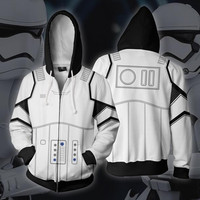 Star Wars Cosplay Imperial Stormtrooper Anime Hoodie Costume Sweatshirt Jacket Coats Men and Women New