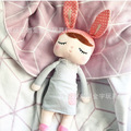 43cm Ins Hot Angela sleeping doll lace rabbit plush toys for children's gift
