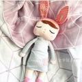 43 cm Ins Caliente Angela muñeca del cordón de dormir conejo juguetes de peluche de regalo de los niños