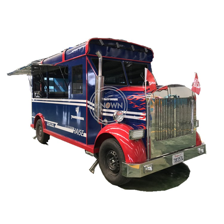Transformers Electric Fast Food Ice Cream Fruits Mobile Food Cart Truck
