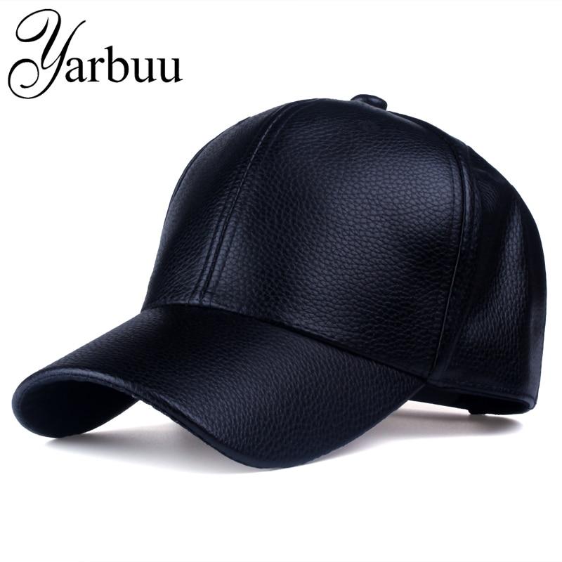 Yarbuu  Cap 2017 nueva caliente y invierno pu cuero gorra de béisbol del  camionero del motorista del SnapBack sombreros para hombres mujeres tapas  envío ... db828213e32