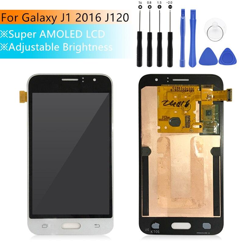 Pour SAMSUNG GALAXY J1 2016 lcd J120 LCD J120M J120F écran tactile numériseur assemblée affichage de remplacement pour Samsung j120f lcd