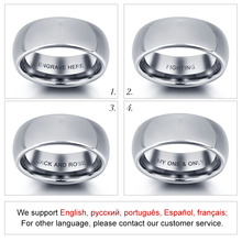 Personalized Engraved Tungsten Steel Ring