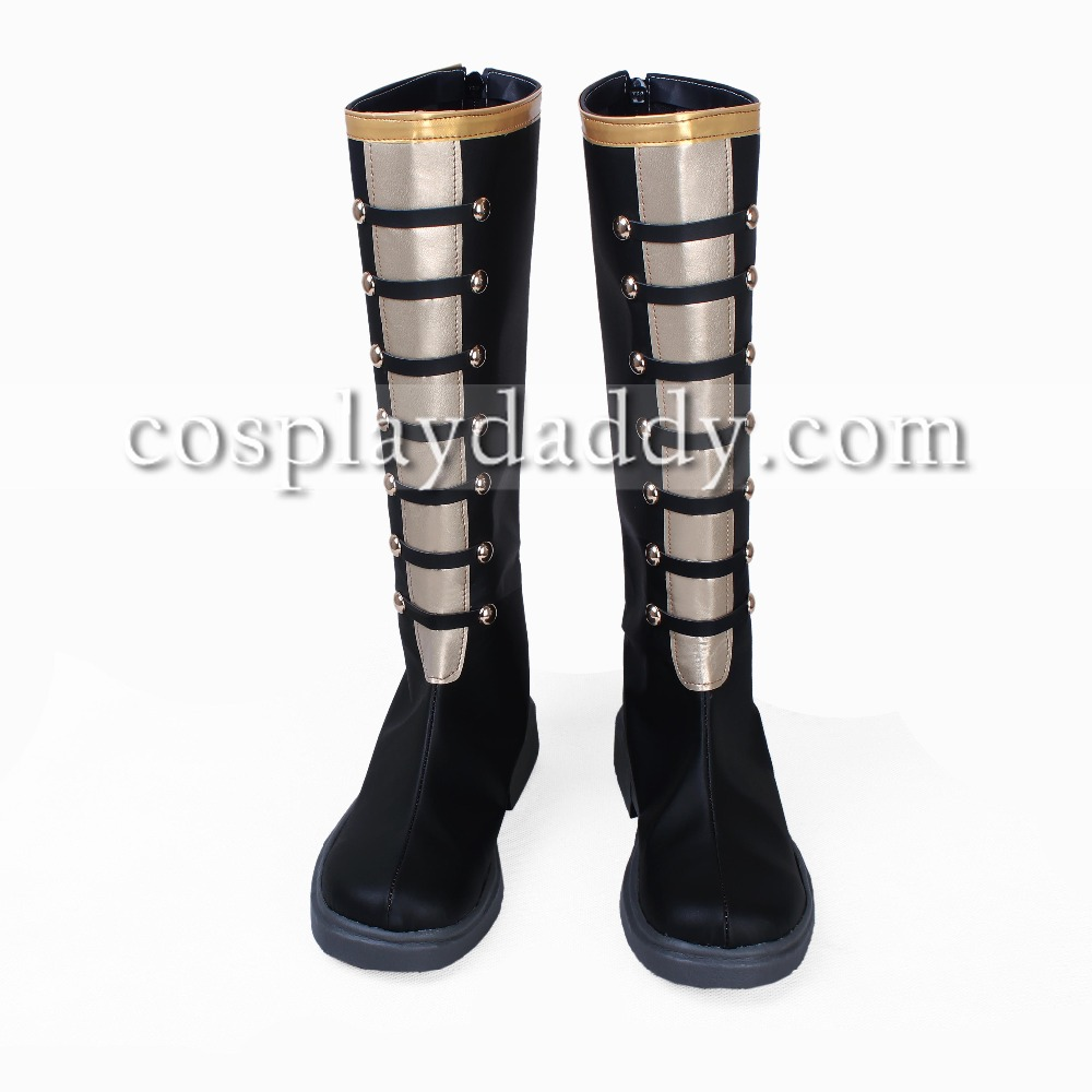 100 Sleeping Princes & The Kingdom of Dreams Hinata Female Cosplay Black Long Boots S008