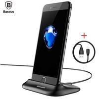 New Baseus Desktop Docking Charger Sync Data Desktop Cradle Stand For IPhone 5 5S 6 6S