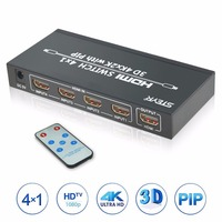 4 Port HDMI PIP Switch STEYR 4x1 HDMI Switch Splitter 4 In 1 Out Selector With