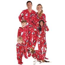 Xams Santa Family Matching Pajamas Clothing Set Adult Kids Women Christmas Santa Claus Nightwear Pyjamas Pjs Photography Clothes