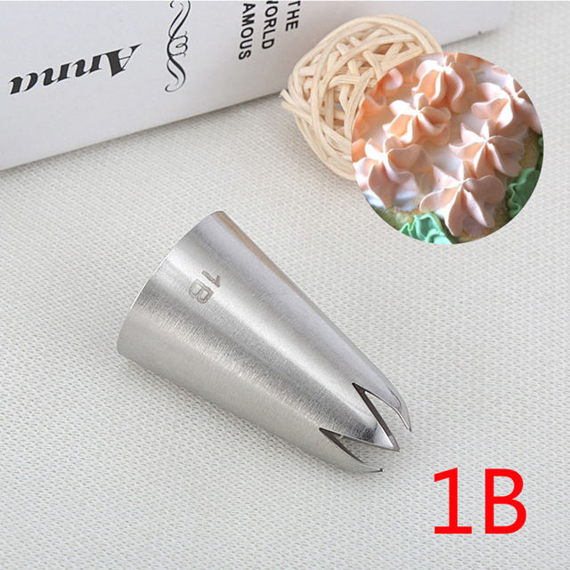 #1B Large Size Cream Nozzle Decorating Tip Icing Nozzle Cake & Baking Tools for Cake Fondant Decorating Nozzle Bakeware