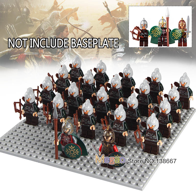 Energetic 21pcs Legoings Uruk Hai Gladiatus Warriors Rome Fighters Medieval Castle Knights Building Blocks Toy For Children Figures Model Building