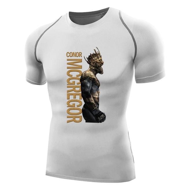 Wrestling Shirt For Men The King Conor Mcgregor T Shirt Compression