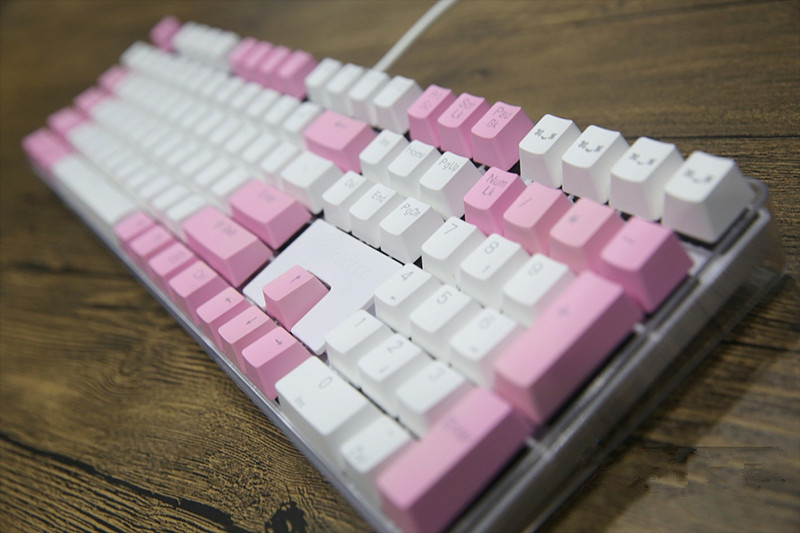 Translucidus Keycap White Pink match 108 PBT Backlit Keycap OEM Profile For MX Switches Mechanical Keyboard Gaming Keyboard