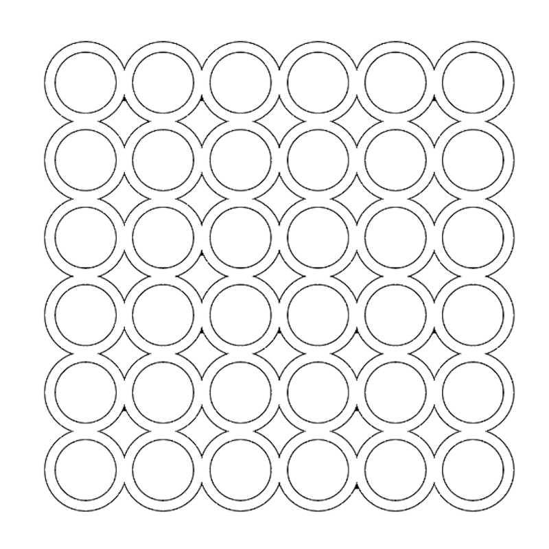 Padrão de Anéis de Estêncil para o Cartão Que Faz Artesanato DIY Scrapbooking Papel Embossing Decorativa Folha de Desenho de Modelo de Plástico 6x6in