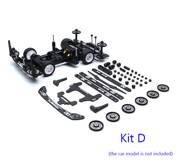 S1/TZ/SFM Chassis Upgrade Parts Kit Carbon Fiber Plates Guide Rollers Spacers Nut Set for Tamiya Mini 4WD Car Model ms msl chassis modify parts set for 1 32 tamiya mini 4wd racing car model carbon fiber plates aluminum guider rollers