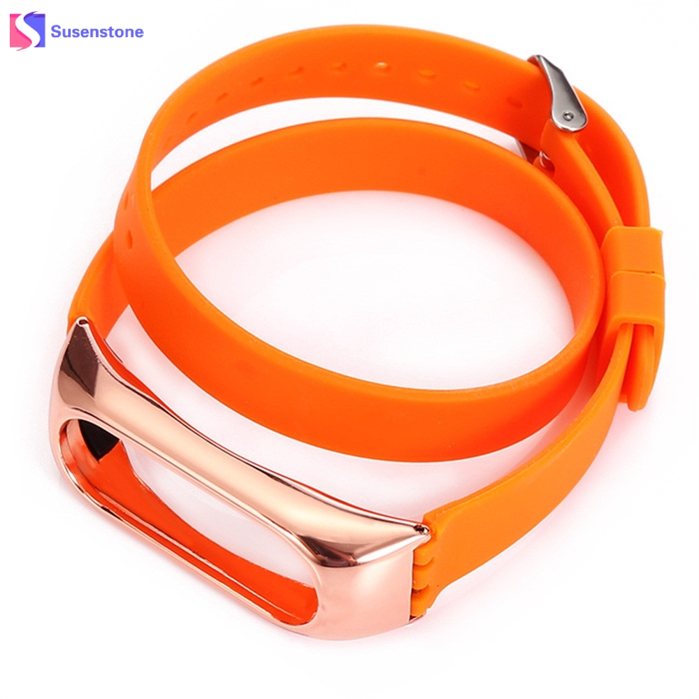 43cm Fashion Silicone Wristband For Xiaomi Mi Band 2 Replacement Watch Band Strap Solid Color Watchband Hot Sale