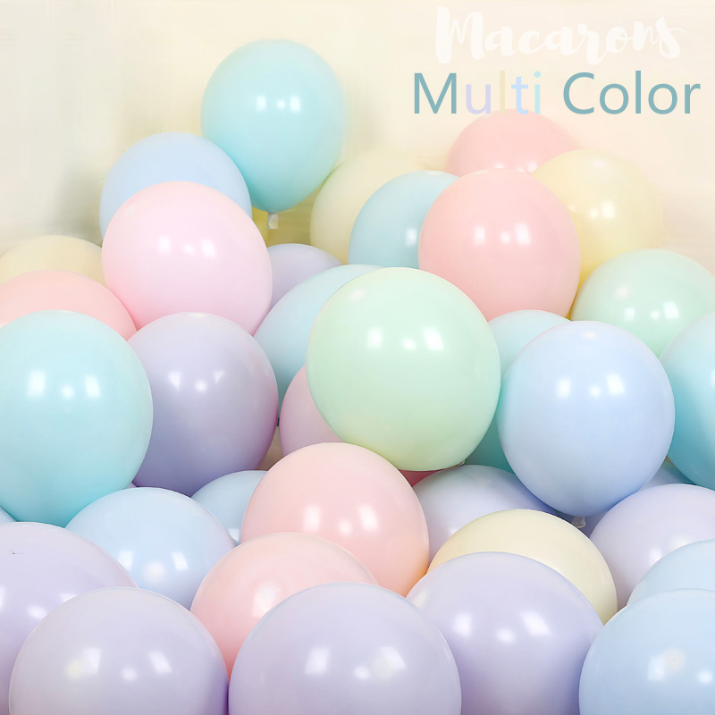 100pcs 10inch Latex Macaroon Balloon Baby Birthday Wedding Balloons Valentine's Day Party Decoration Air Ball Arch baloons Decor-Multi color