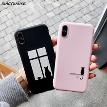 Silicone Phone Case For Xiaomi Redmi Note 9S 4 4X 5 5A 6 7 8 8T 9 Pro Max 3S 4A 6A S2 Plus 7A 8A Case Cartoon Couple Cat Cover luxury love heart case for xiaomi redmi note 9s 4 4x 5 5a 6 7 8 8t 9 pro max 3s 4a 6a s2 plus 7a 8a case silicone soft cover