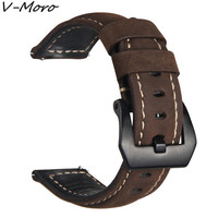 V MORO Genuine Leather Crazy Horse Band For Gear S3 Classic Frontier Replacement Bracelet For Gear