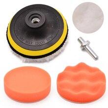 Mayitr 5pcs/set 4 Sponge Polishing Buffing Pad Drill Adapter Kit for Car Auto Polisher Cleaning Dirt Rust Tools