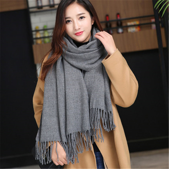 "New Fashion Korean autumn winter High quality scarf ""women Warm Knit Neck Circle Wool-like plush rabbit hair  Scarf Shawl Wrap"