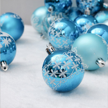 6cm24pc blue painted Christmas tree decoration ball party hanging home gift