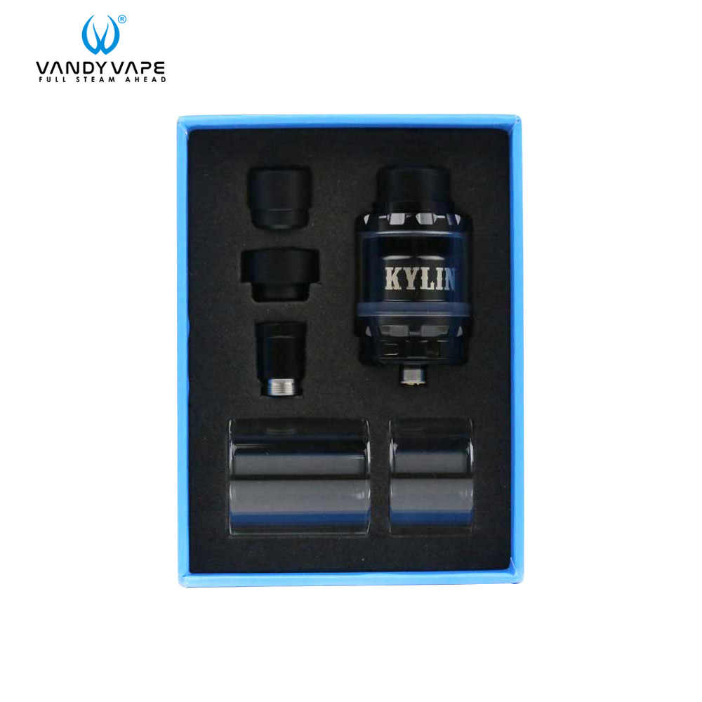 Original Vandy Vape kylin RTA Tank Electronic Cigarette Atomizers 6ml&2ml with Single And Dual Coil Fit For Vape Box Mod
