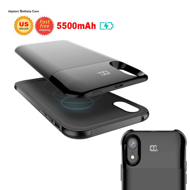 big sale 61170 d8ce5 US $29.99 |Charge Battery Cover For iPhone X / XS Max XR Battery Case Power  Separate Wireless Charging Battery Case Digital Display Charger-in Fitted  ...