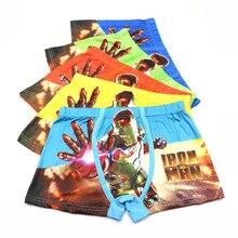 5pcs/lot Briefs For Boys Underwears Panties Infant Boxer Avengers Cotton Teenagers 4-9 Y Panty kids baby underwear