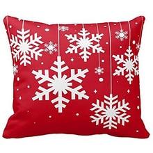 Веселое Рождество Наволочка Санта Снеговик хлопок лен диван современный уютный пледы наволочка домашнее украшение для кровати автомобиля