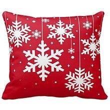 Giáng Sinh vui vẻ Gối Bìa Ở Santa snowman Cotton Linen Sofa Hiện Đại Ấm Cúng Ném Đệm Che Nhà Giường Xe Trang Trí