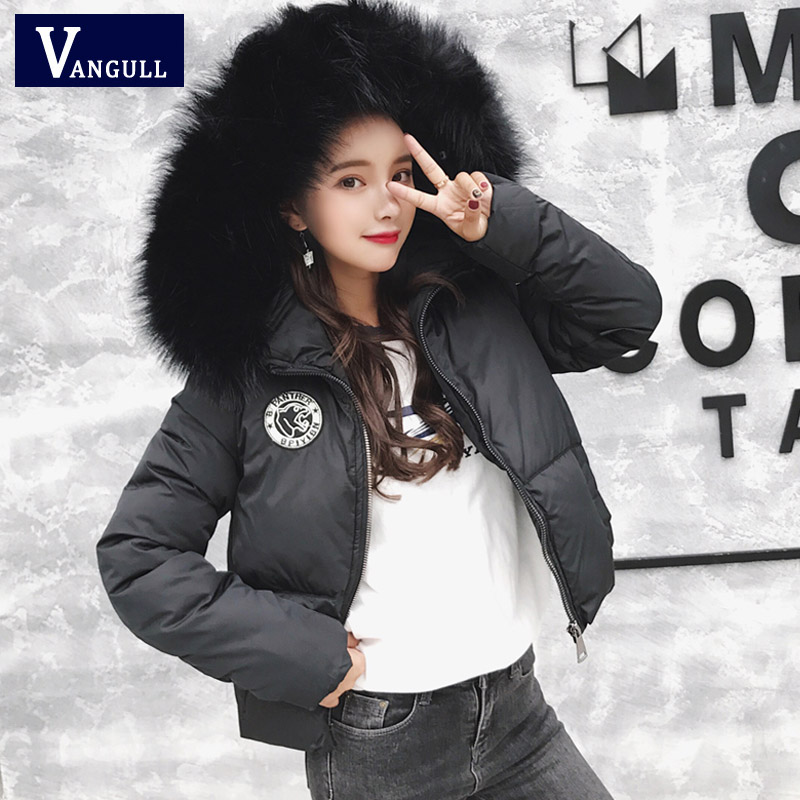 2017 New Women luxurious Large fur collar hooded coat warm Fox fur liner parkas long Sleeve Thick winter jacket top quality princess sweet lolita parkas in the winter of new women s original japanese sweet fox fur collar long sleeved coat c22cd7219