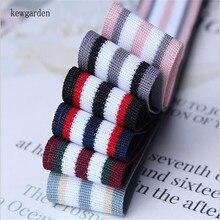 Kewgarden 3/8 5/8 1 1-1/2 Knitting Stripe Satin Ribbons DIY Bowknot Ribbon Handmade Tape Accessories Gift Riband 10 Yards