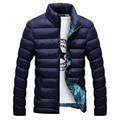 Homens Jaqueta de inverno 2016 Da Moda Gola Masculina Jaqueta Parka Mens Jaquetas e Casacos Parkas Homem Inverno Sólida e Espessa