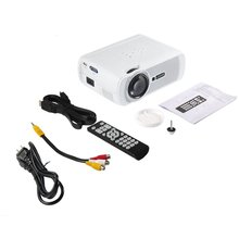 LESHP 1080P HD 1200 LM Portable Multi-media LED Video Projector with Keystone for Office Home Cinema Theater TV Game 1000:1 JP