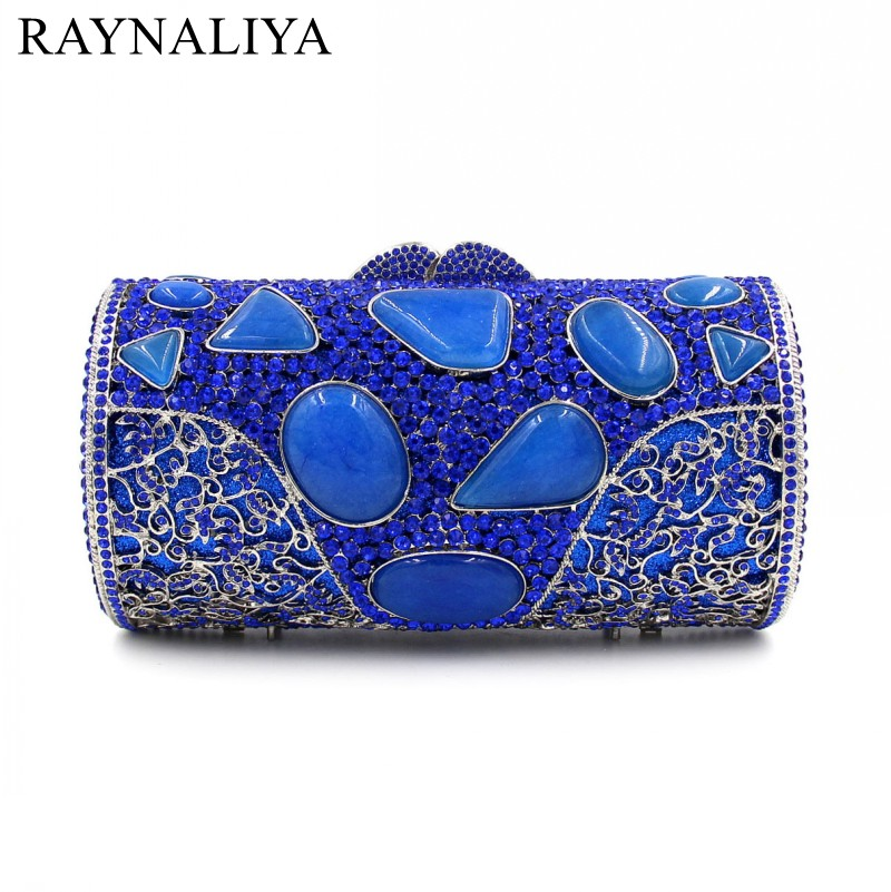Designer Crystal Day Party Clutches Evening Purses High Quality New Fashion Agate Luxury Handbags Women Bags SMYZH-E0055 high quality women luxury crystal evening bags day clutches ladies handbags sisters party purse multi color diamond small