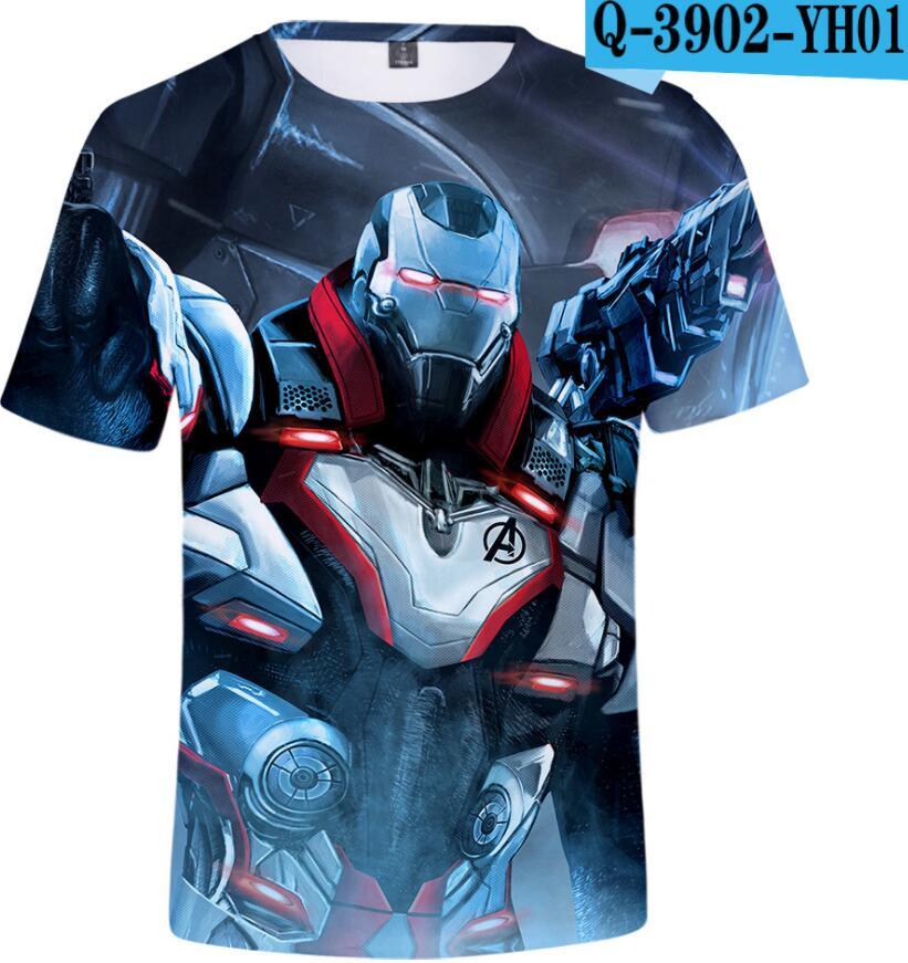 T-Shirt Kids Spiderman Marvel Avengers Batman Captain-America Summer Boy