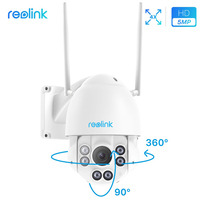 Reolink Security Camera 4MP/5MP 2.4G/5G WiFi Pan Tilt 4x Optical Zoom Built in 32GB SD Card IP PTZ Cam RLC 423WS