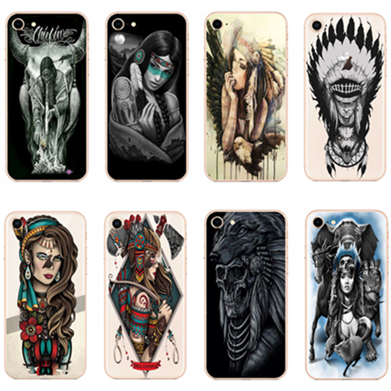 KULIAI Phone Case Indian head For Apple iphone 8 7 6S 6 PLUS 5S 5 SE X 10 Mobile phone hard shell.