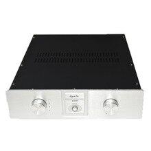 320*80*266MM A3208A demir gövde alüminyum paneller amplifikatör şasi Diy kutusu HousingEnclosure entegre amplifikatör ön amplifikatör durumda