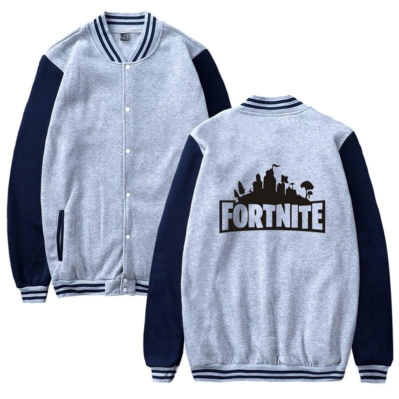 Smzy Fortnite Baseball Jacket Hoodies Sweatshirt Tops