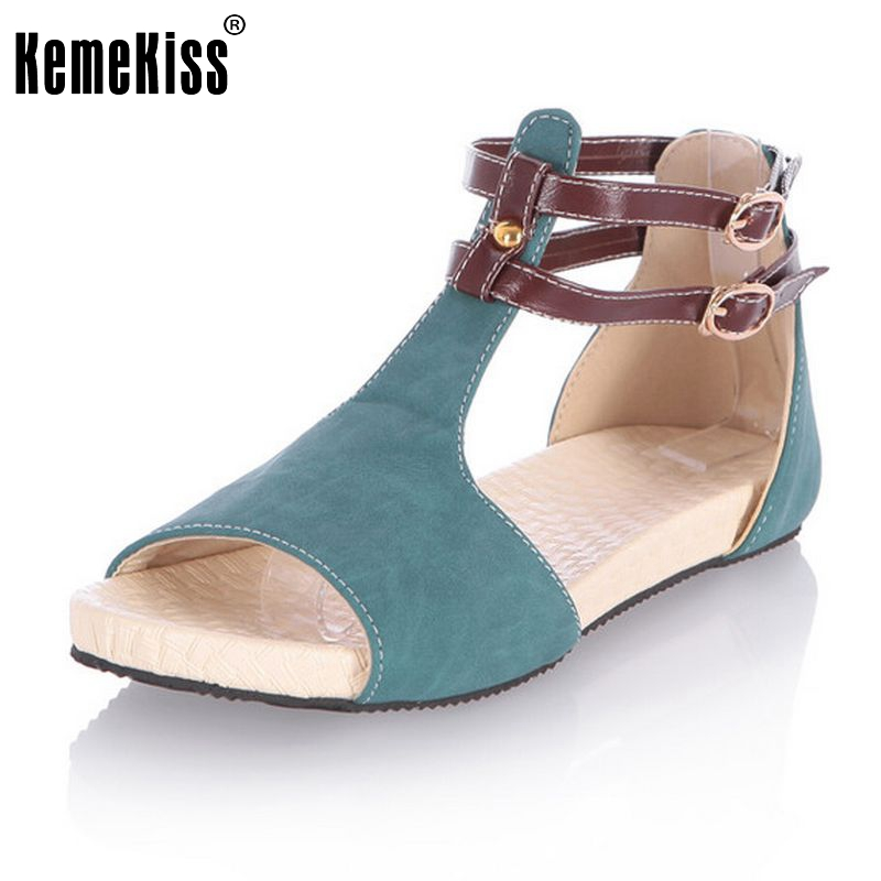 Women Peep Toe Flats Sandals Ankle Strap Shoes Woman Flat Sandal Ladies Casual Fretwork Cut-Outs Footwear Size 34-43 PA00274 women flat sandals fashion ladies pointed toe flats shoes womens high quality ankle strap shoes leisure shoes size 34 43 pa00290