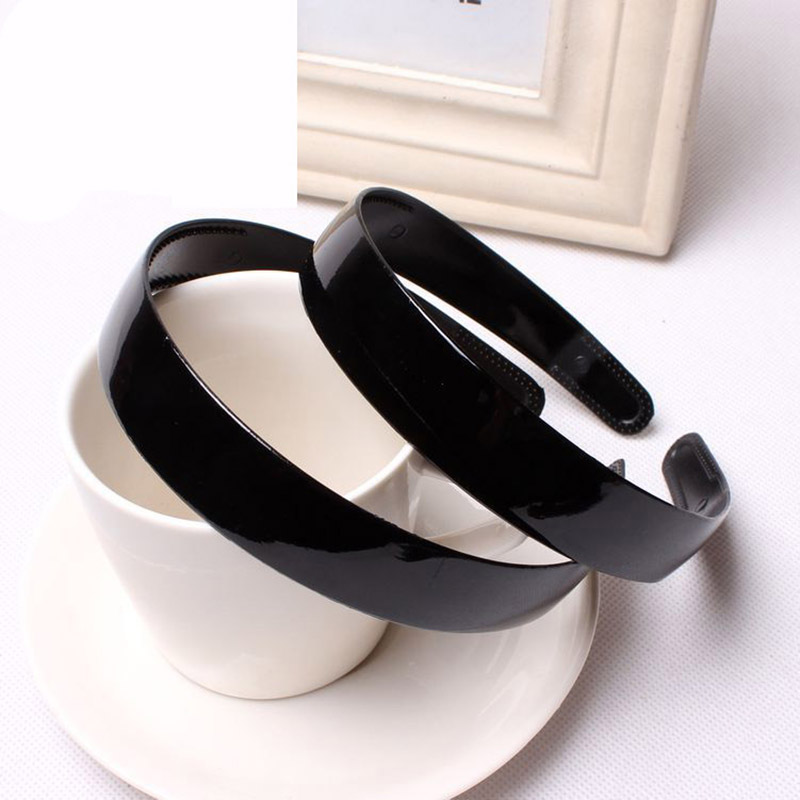 10PCS 2019 New Fashion Plastic Black Plain Headband For Women Lady Hair Band Resin Hairband Hair Hoop Hair Accessories   Headwear
