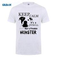 GILDAN Benutzerdefinierte T-shirt Halten Sie Ruhe seine eine Pitbull Nicht eine Freakin Monster Pit Bull Mann Kurze T-Shirt Komfort Männlichen Hemddruck Tees