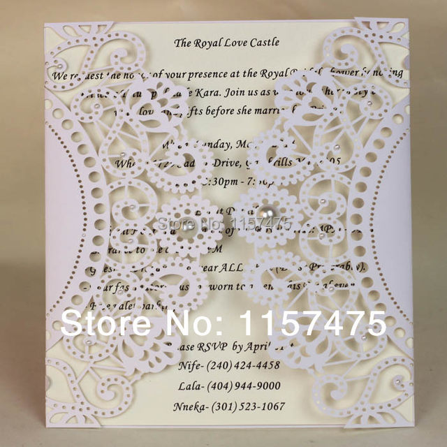 Hi3003l Big Size Customized Laser Cut Wedding Invitation Cards Made In China